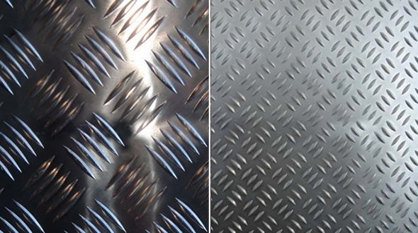 Diamond Pattern Chequered Steel Cladding for Architectural Decoration
