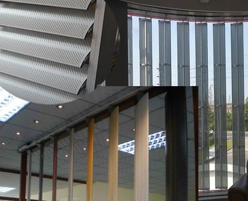 Louver Screen Wall : Perforated aluminum metal louver sunshade screen shutters