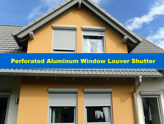 Security Aluminum Window Louver Screen Panels